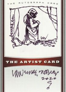 YODA STAR WARS ARTIST CARD SKETCH AND AUTOGRAPH OF LAWRENCE NOBLE!! RARE!!