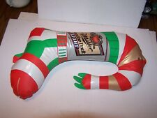 Vintage inflatable blow up Miller Genuine Draft Light Beer Christmas Grinch boot