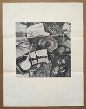 rare ROBERT RAUSCHENBERG 1961 Leo Castelli exhibition poster - warhol johns