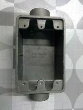 "Crouse-Hinds FSC2-SA 3/4"" Aluminum Electrical Box **Free Shipping**"