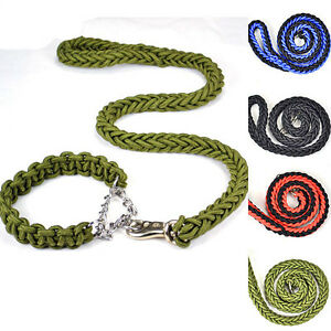 Strong Dog Pet Lead  Braided Rope Leash Rottweiler Labrador Large Dog Leash NEW