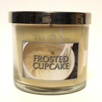 NEW 1 BATH & BODY WORKS FROSTED CUPCAKE 4 OZ SCENTED MEDIUM CANDLES WHITE BARN