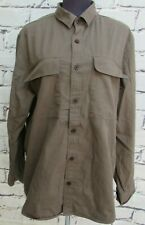 Maison Cinqcent Olive Green Denim shirt size XL