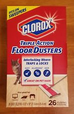 Clorox Triple Action Floor Dusters 26 Count Box Dust Hair Allergens Red NIB Pet