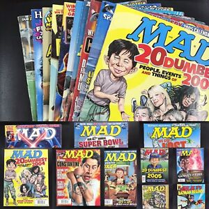 Lot of 12 MAD Magazines 2005 2006 Issues Star Wars Harry Potter Trump