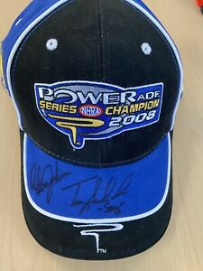 Tony Schumacher Alan Johnson SIGNED NHRA 2008 Championship Hat RARE