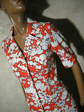 CHIC VINTAGE ROBE 1970 VTG DRESS 70s KLEID 70er ABITO ANNI 70 RETRO (36/38)