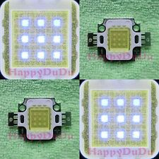 10W Cool Cold White 20000K High Power LED Lamp Light 1000Lm-1100Lm for Aquarium
