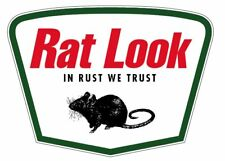 RAT LOOK sticker hotrod hoodride kustom retro 100mm wide
