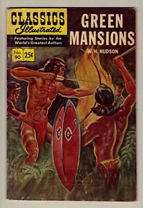 Classics Illustrated #90 - Green Mansions - Stiff cover - HRN #169 - VG/Fn (5.0)