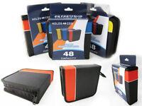 CD Holder DVD Case Storage Wallet Disc Media Book DJ Organizer Capacity 48 New !