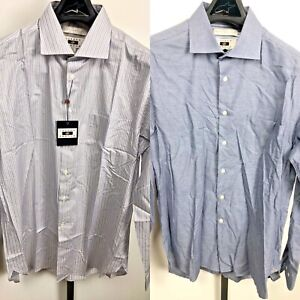 Lot of 2 Joseph Abboud Dress Shirt NWT Cotton Tailored Fit 16 1/2  34/35