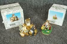 2 Fitz & Floyd Charming Tails Figurines Rich In Friendship/Visiting Friends
