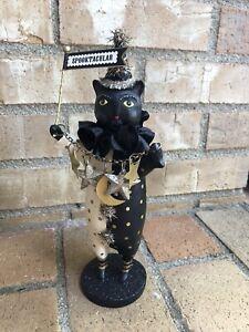 Heather Myers Black Jack Cat Halloween figurine, ESC & Co, 55402 NIB