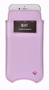 iPhone 8 / 7 Case Purple Faux Leather NueVue Sanitizing Screen Cleaning Sleeve