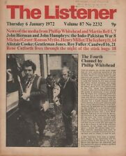 THE LISTENER (6 January 1972) MARTIN BELL - ROMAN MYTHS BY MICHAEL GRANT - MALTA
