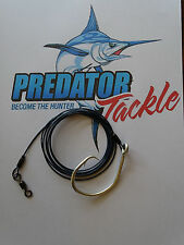 Shark Rig 120kg 264 LB Coated 316 S/s49 Strand Wire 16/0 Circle Hook