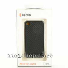 Griffin iPhone 4 iPhone 4s Elan Reveal Etch Graphite Shockproof Case Cover Black