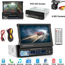 "Bluetooth Car Stereo Radio 1 DIN 7"" HD MP5 FM Player Touch Mirror Link + Camera"