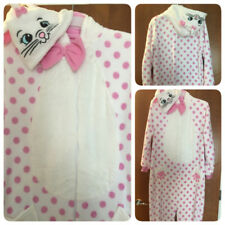 Aristocats 'Marie' CAT Adult Womens 'L' Sleepsuit PJs Primark Pink/ White Disney