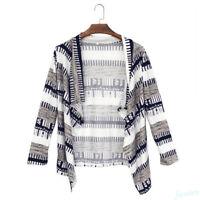 Women Boho Long Sleeve Waterfall Cardigan Knitwear Jumpers Sweater Coat Gift Hot