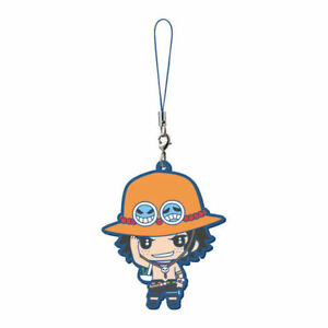 One Piece Anime Mascot Swing PVC Strap Keychain Charm ~ Portgas D. Ace @20201