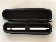 Apple iPad Pro Pencil Case...Zippered Semi Hard Shell...Pen Stylus Holder..Black
