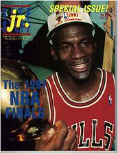 MICHAEL JORDAN ~ 1991 Tuff Stuff Jr. Magazine with Uncut Sheets of Cards ~ New!