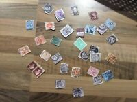 Qv stamps on paper 31x
