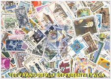 LOTTO 100 FRANCOBOLLI DIFFERENTI ITALIA REPUBBLICA