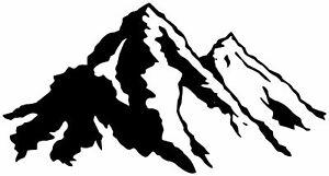 (No.786) CAMPER VAN, MOTORHOME, CARAVAN DECAL, GRAPHIC,  MOUNTAIN DECAL STICKERS