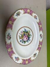 very nice Royal Albert bone china Lady Carlyle oval serving platter 13.5x10.5