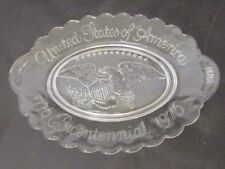 United States Of America Collectors Glass Plate Tray Eagle 1776 Bicentennial 76'