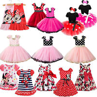 Minnie Mouse Toddler Baby Girl Tutu Skirt Polka Dot Birthday Party Dress Costume