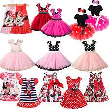 Minnie Mouse Tutu Skirts Toddler Kid Girl Polka Dot Birthday Party Dress Clothes
