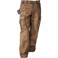 Duluth Trading Men's Fire Hose Relaxed Fit Cargo Work Pants in Brown