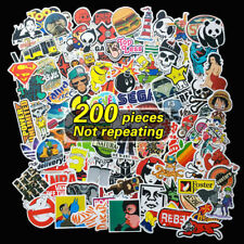 UK 200 X Random Cool Vinyl Decal Graffiti Sticker Bomb Skate Laptop PVC Stickers