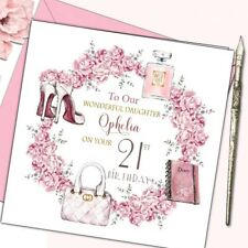 Personalised Birthday Card Daughter Sister Friend 18th 21st 30th 40th 50t Female