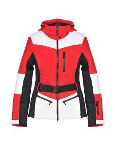 £560 NAPAPIJRI CLOE WOMENS DESIGNER RED WHITE SNOW SKI JACKET COAT LARGE BNWT
