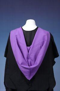 Full Shape University Academic Hood Graduation Gown Accessory Clearance
