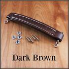 Dark brown vintage style leather look amp handle