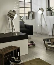 Lámpara de pie h150cm E27 en níquel mate Stand Interior vintage