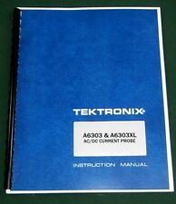 Tektronix A6303 / A6303XL Instruction Manual: Comb Bound & Protective Covers