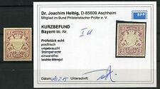 Bayern unverausgabte 2 Mark Wappen 1890**  ungezähnt Michel I U Befund (S10712)