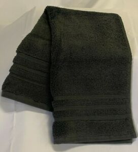 """HOTEL COLLECTION Hand Towel NWT 16"""" x 30"""" Ultimate MicroCotton Ash Gray MSRP $26"""