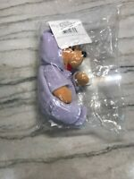"NEW The Disney Store Easter Pooh Mini Bean Bag 9"" Plush Stuffed Animal Purple"