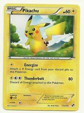 Pikachu 115/114 Black & White HOLO Secret Rare Pokemon Card Excellent Condition