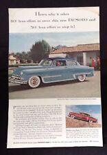 1953 Vintage Magazine Ad ~ DeSoto Automobile  ~ Greyhound Bus