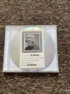 DJ Shadow The Private Press Advance Promo CD. Rare Item.