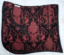 "Swallow Tail ""Sevilla"" Black Red Baroque Dressage Saddle Pad"